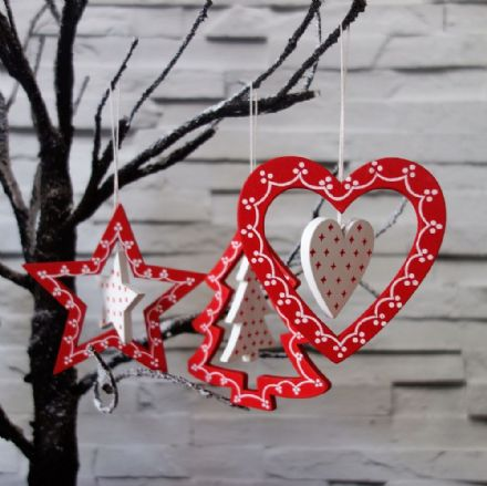 50% off Traditional wooden hanging decorations
